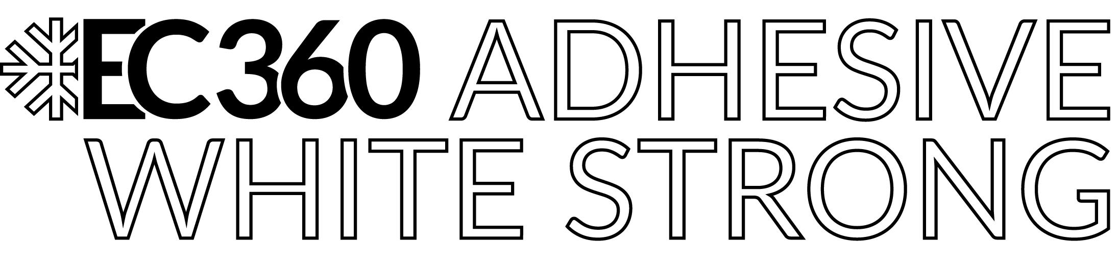 EC360® ADHESIVE WHITE STRONG Logo